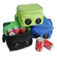 Cheap mini portable Cooler bag with speakers for MP3/ipod/mobilephone/Iphone   wholesale