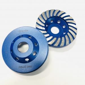 """Cheap 4"""" 22.23mm Innner Hole Turbo Concrete Grinding Wheel For  Granite Marble wholesale"""
