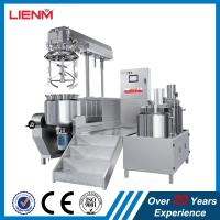 Cheap 2018 Cosmetic Electric Heating/Steam Heating Hydraulic Lifting vacuum emulsifying mixer machine for ointment shampoo wholesale