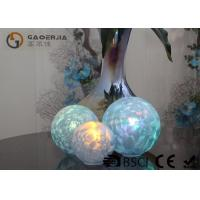 Cheap Set Of 3 Glass Ball Lights Surface With Ice Like Finish OEM / ODM Available wholesale