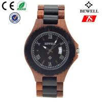 Cheap Japan Movement Wooden Wrist Watch With Spring Buckle , Logo Customized wholesale