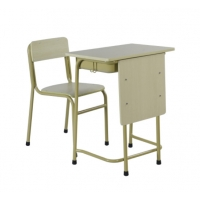 Cheap Steel School Furniture For Classroom Student Study Table Metal Desk And Chair Child Reading Table wholesale