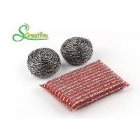 Elastic Sponge Spiral Stainless Steel Scouring Ball For Metal Kitchenware Strong Cleaning