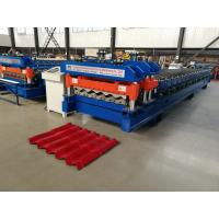Cheap Servo Motor Glazed Tile Roll Forming Machine 4 Meter / Min With 18 Rows wholesale