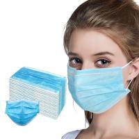 Cheap Blue Color Earloop Type Medical Face Mask 17.5*9.5cm Size For Personal Safety wholesale