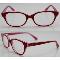 Cheap Red Spectacles Glasses Frames , Vintage Acetate Kids Eyewear Frames wholesale