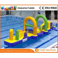 Cheap 0.55 MM PVC Tarpaulin Inflatable Water Toys / Inflatable Obstacle Course For Water Park wholesale