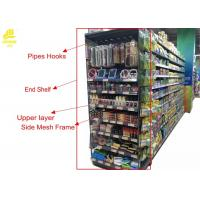 Double Side Supermarket Steel Racks With Price Stopper Fence End Shelf