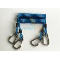Cheap Retractable Tool Tether Lanyards Blue Spring Elastic Plastic Coiled Tethers wholesale