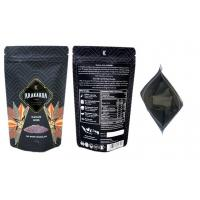 Cheap Customized printing food grade stand up pouch matte black zip lock food bag packaging wholesale