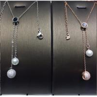 Buy cheap Sweater Chain Swarovski Jewelry Long Necklace 925 Silver With Shell Pearl from wholesalers