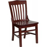 Cheap School Mahogany Wooden Dining Room Sets , Solid Wood Restaurant Chair Dining Room wholesale