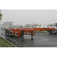 Cheap 40ft Skeletal Three Axles Steel Shipping Container Trailer Chassis ISO9001 CCC wholesale