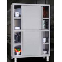 Cheap Commercial steel office furniture 4 lockers restaurant kitchen push-pull cabinet stainless steel cabinet wholesale