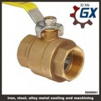 Cheap Cast NPT Full Port Private Label on Handle 4 Inch Brass Ball Valve wholesale
