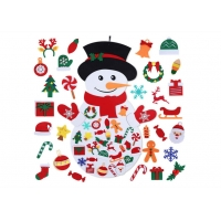 Cheap 39 X 26 Inch Childrens Felt Handicraft Snowman Set With 36pcs Ornaments wholesale