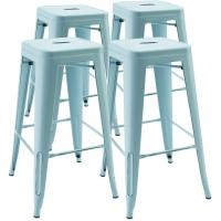 Cheap High Metal Stool Backless Industrial Bar Stools , Restaurant Stacking Chairs Indoor Outdoor wholesale