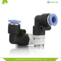 Cheap Composite Plastic Tube Fittings PL10-02 10mm Metric Push In Fittings wholesale