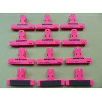"""Cheap 4"""" plastic clip with magnetic stripe wholesale"""