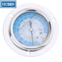 Cheap Flange type pressure gauges with 2.5 inch dial stainless steel case wholesale