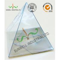 Cheap Handmade Custom Gift / Craft Clear Packaging Boxes Triangle Glossy Lamination wholesale