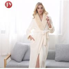 Buy cheap Hot Sale Extra Long Fleece Women Robe Night Gown luxury Fur Collar Bathrobe Plus from wholesalers