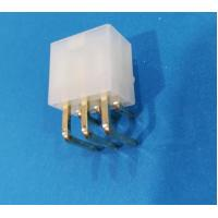 Cheap Conn 6pos Pcb Header Connector 4.2mm Nylon Natural With Plastic Post Gold Plated wholesale