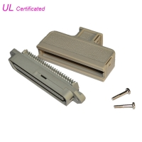 Cheap Tyco 180 Degree Male Centronic Solder 50 Pin Connector With Plastic Cover Certificated UL wholesale