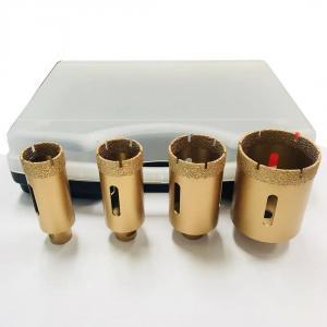 Cheap 4pcs M14 50mm Vacuum Brazed Diamond Tools Drill Bit Minimal Chipping wholesale