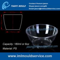 Cheap clear small thin wall PS Disposable Plastic Bowls mould with 180ml wholesale