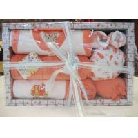 Cheap All Cotton dyeing New Born Baby Christening Gift Sets with Baby Wear and Socks wholesale