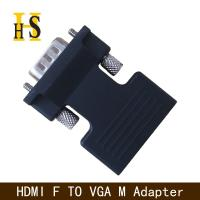 Cheap high quality hdmi female to vga male adapter with 3.5mm audio cable for projector hdmi f to vga m adapter wholesale