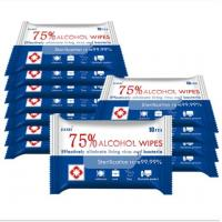 Cheap 10pcs Large Wet Wipes Disinfectant Hand Wipes For All Purpose Cleaning OEM / ODM wholesale