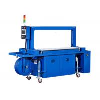 Cheap High Speed Carton Box Strapping Machine , Fully Automatic Pallet Strapping Machine With Power Roller Table wholesale