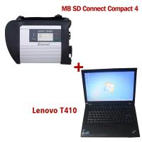 Cheap 2018.7V Wireless MB SD C4 Mercedes Diagnostic Tool With I5 CPU 4G RAM Lenovo T410 wholesale