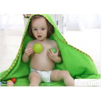 Cheap Professional Green Color Baby Hooded Towels With Animal Hood 90*90cm for sale