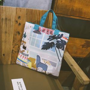 Cheap Japanese lovely art canvas single-shoulder bag spray figure cross-body bag small fresh cartoon lady bag wholesale