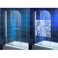 High Purity Clear Bath Shower Screen , Single Tempered Glass Panel