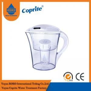 Cheap 2.5L / 1.3L Countertop Brita Alkaline Water Jug / Water Purification Pitcher wholesale