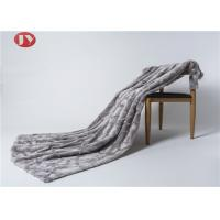 Cheap Luxury Gray Stone Embossed Plush Fur Blanket Animal Fur Winter Harmless Super Soft wholesale