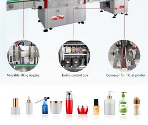 Cheap Automatic follow up filling capping machine 2 4 6 nozzles are moving for shampoo lotion cream liquid detergent gel wholesale
