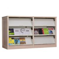Cheap Modern design metal and steel office furniture double side bookshelf periodical magazine rack wholesale
