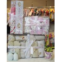 Cheap 100% Cotton unique Fabric Cute Customized New Born Baby Girl Shower Gift Sets wholesale