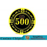Cheap 12g Colorful Casino Quality Poker Chips With Crown Screen Convenient To Carry wholesale