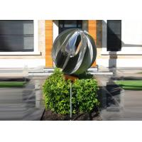 Cheap Attractive Stainless Steel Sphere Sculpture / Contemporary Steel Sculpture wholesale