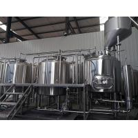 Cheap 1500L Three Vessels Brewhosue Beer Brewing Equipment System Wiht Hopper wholesale