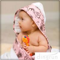 Cheap Animal Pattern Personalized Hooded Baby Towels , Toddler Hooded Towels AZO Free wholesale
