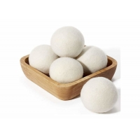 Cheap 6.5cm 7cm Simple Natural Wool Dryer Balls For Laundry wholesale