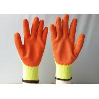Cheap 10 Gauge Latex Coated Gloves Yellow Cotton / Polyester Knitted For Construction wholesale