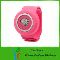 Cheap Colorful Silicone Strap Watches, Slap Silicon Watch For Hour / Minute / Second Display wholesale